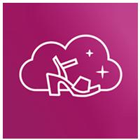 Pinkes Ikon mit Wolke und Sandalette