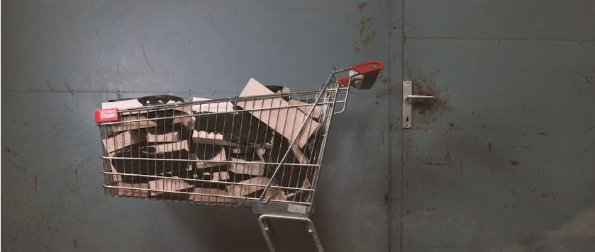 Einkaufswagen mit Holz für SOFTCLOX Schuhe
