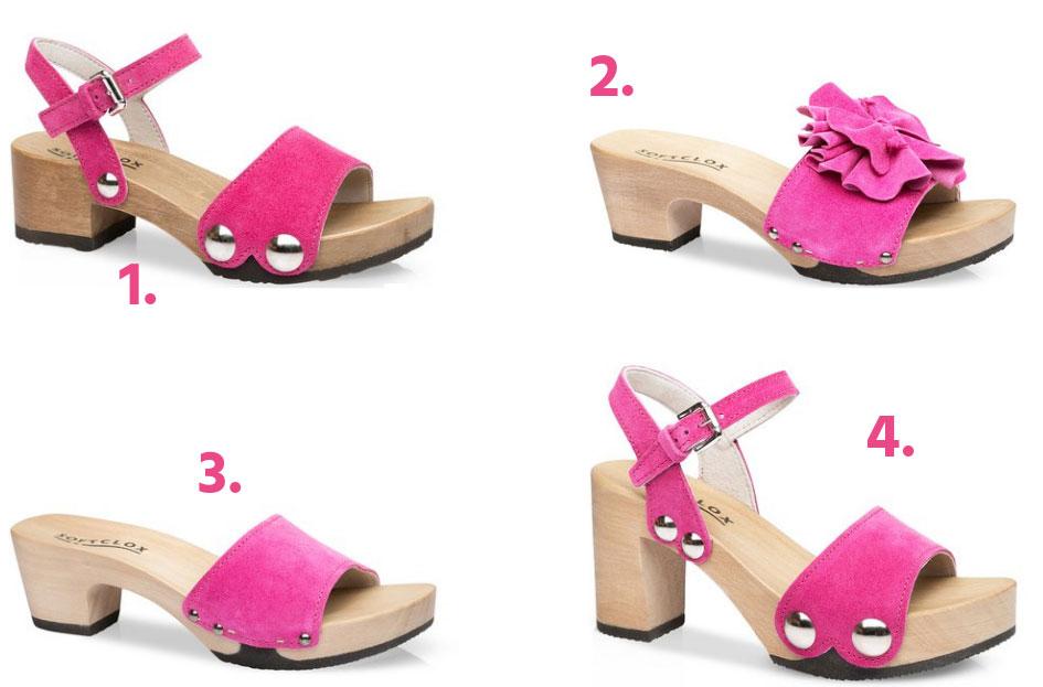 Think pink. Pinke Sommerschuhen von SOFTCLOX
