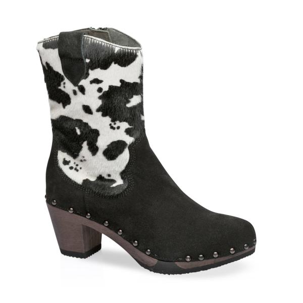 GLADYS cashmere/animalprint black/cow