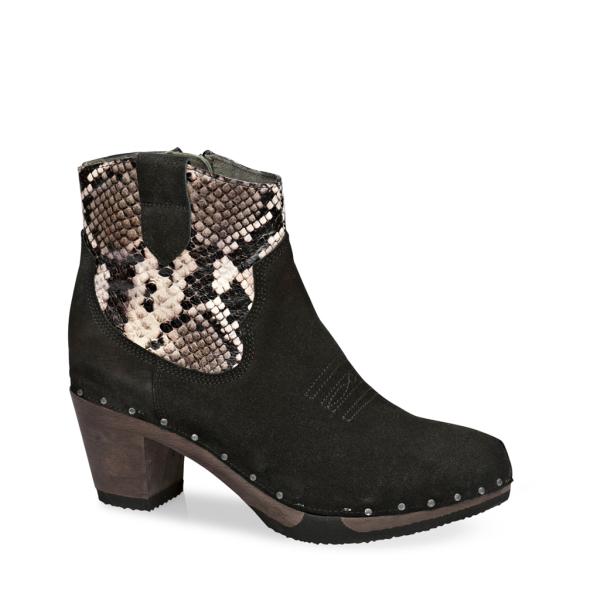 GAVINA cashmere/animalprint black/snake