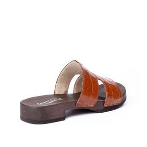 BLIDA crocoprint brown